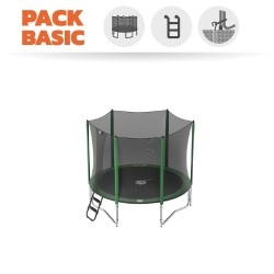 Pack Basic Trampoline Access 250 avec Filet + Échelle + Kit d'ancrage