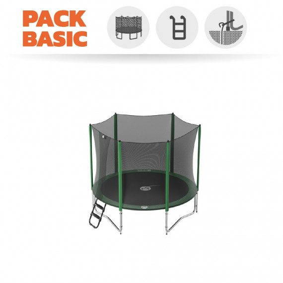 Basic pack 8ft Access 250 trampoline with enclosure + ladder + anchor kit