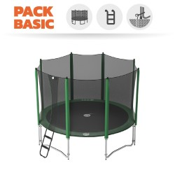 Basic pack 12ft Access 360 trampoline with enclosure + ladder + anchor kit