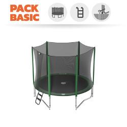 Pack Basic Trampoline Access 300 avec filet + échelle + kit d'ancrage