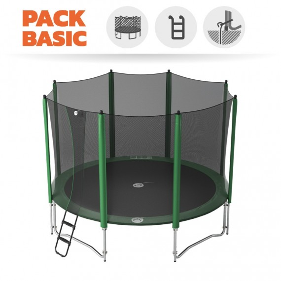 Basic pack 14ft Access 430 trampoline with enclosure + ladder + anchor kit