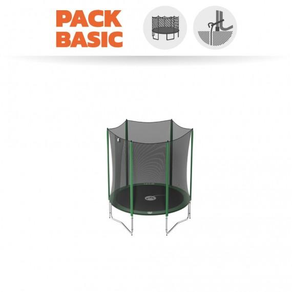 Pack Basic Trampoline Access 180 avec Filet + Kit d'ancrage