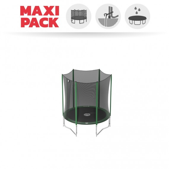 Maxi pack 6ft Access 180 trampoline with enclosure + anchor kit + cover