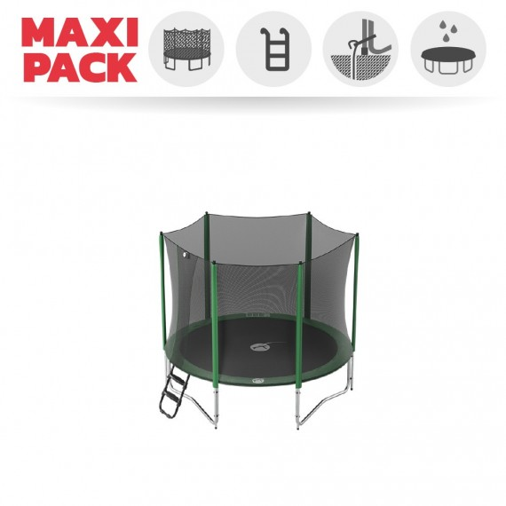 Maxi pack 8ft Access 250 trampoline with enclosure + ladder + anchor kit + cover