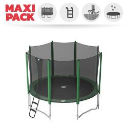 Maxi Pack Trampoline Access 360 avec filet + Échelle + Kit d'ancrage + Housse basique