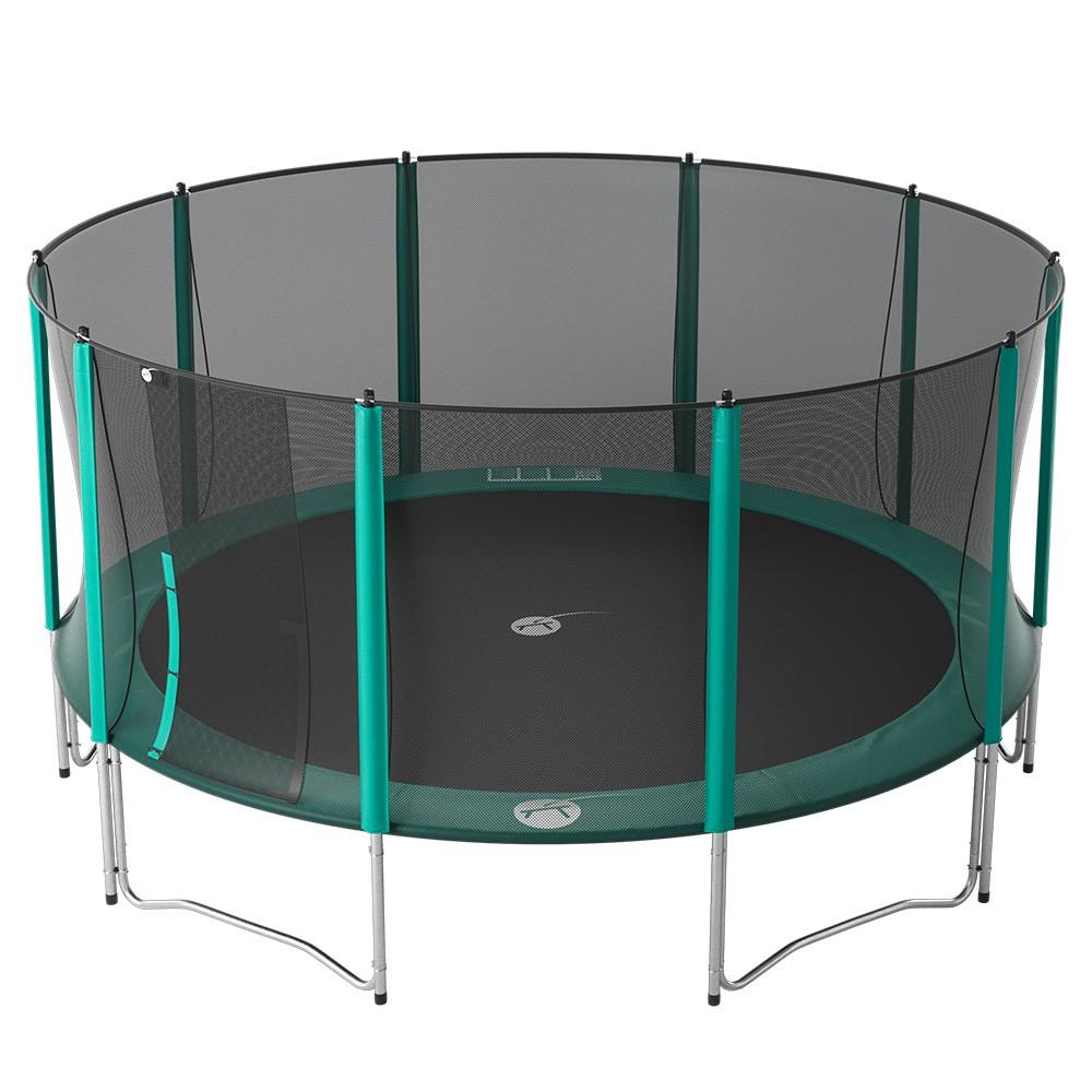 trampoline rond booster 490 avec son filet de protection. Black Bedroom Furniture Sets. Home Design Ideas