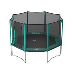13ft Waouuh 390 trampoline with safety enclosure