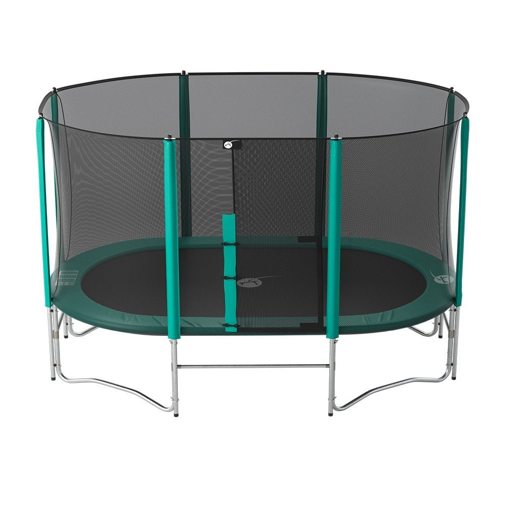 trampoline ovalie 430 avec filet et chelle. Black Bedroom Furniture Sets. Home Design Ideas
