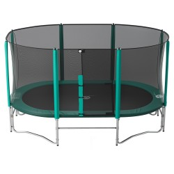 16ft Ovalie 490 trampoline with safety enclosure