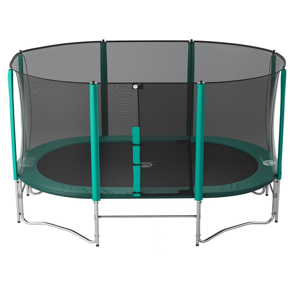 trampoline ovalie 490 avec filet et chelle. Black Bedroom Furniture Sets. Home Design Ideas