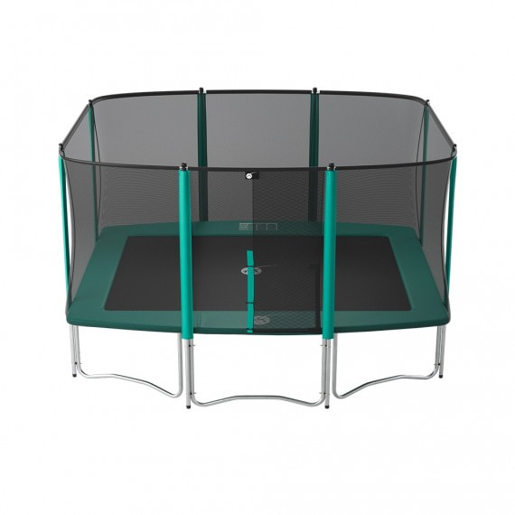Apollo Sport 400 trampoline with safety enclosure and ladder