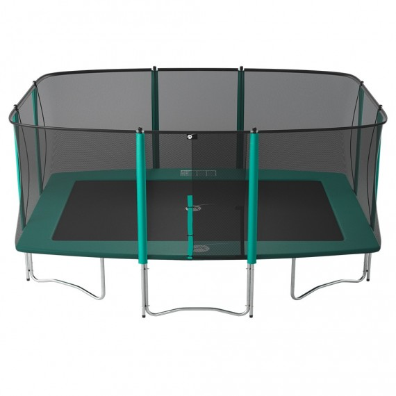 Apollo Sport 500 trampoline with safety enclosure and ladder