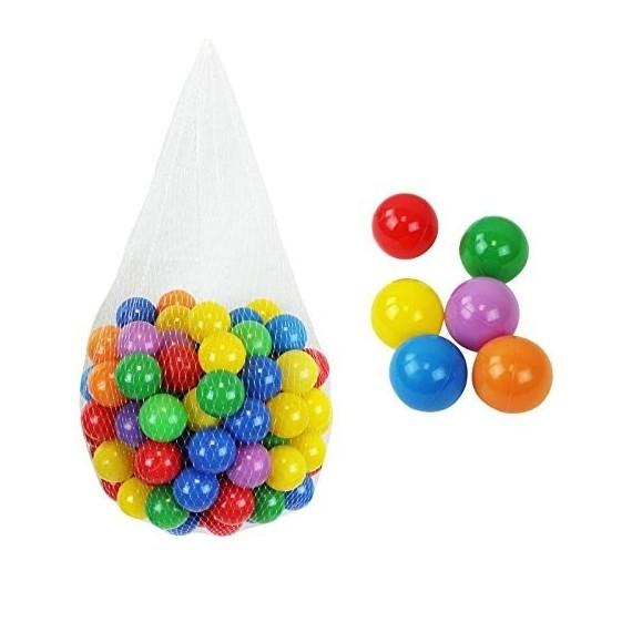 Sac de 100 balles de piscine multicolores Ø 5,5 cm