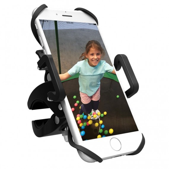 Smartphone support for trampoline