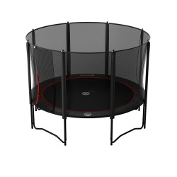 12ft Black Booster 360 trampoline with safety enclosure