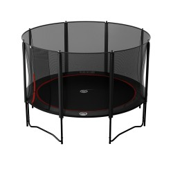 13ft Black Booster 390 trampoline with Premium enclosure