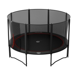 Trampoline Booster Black 430 avec filet Premium
