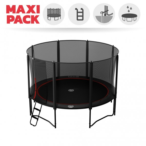 13ft Booster 390 trampoline with safety enclosure + ladder + anchor + cover