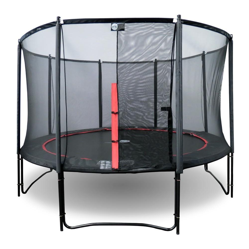 trampoline booster black 360 avec filet premium. Black Bedroom Furniture Sets. Home Design Ideas