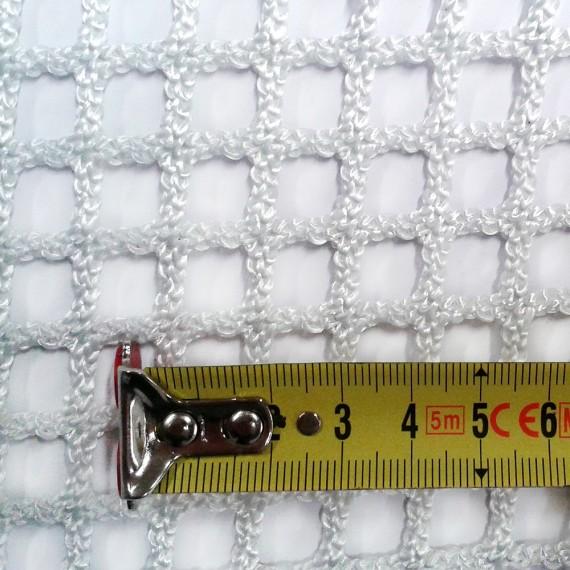 Filet à mailles tressées 13 mm blanc