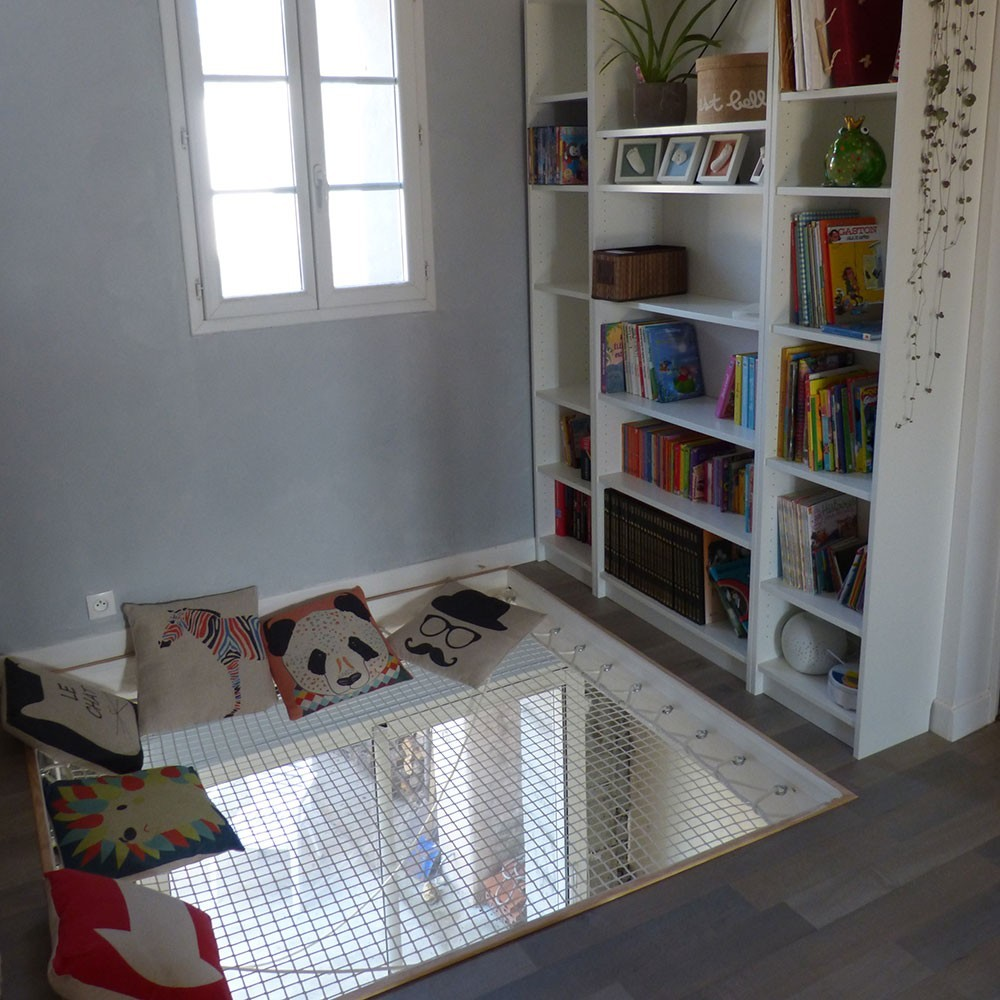 filet mailles tress es de 30 mm blanc noir. Black Bedroom Furniture Sets. Home Design Ideas