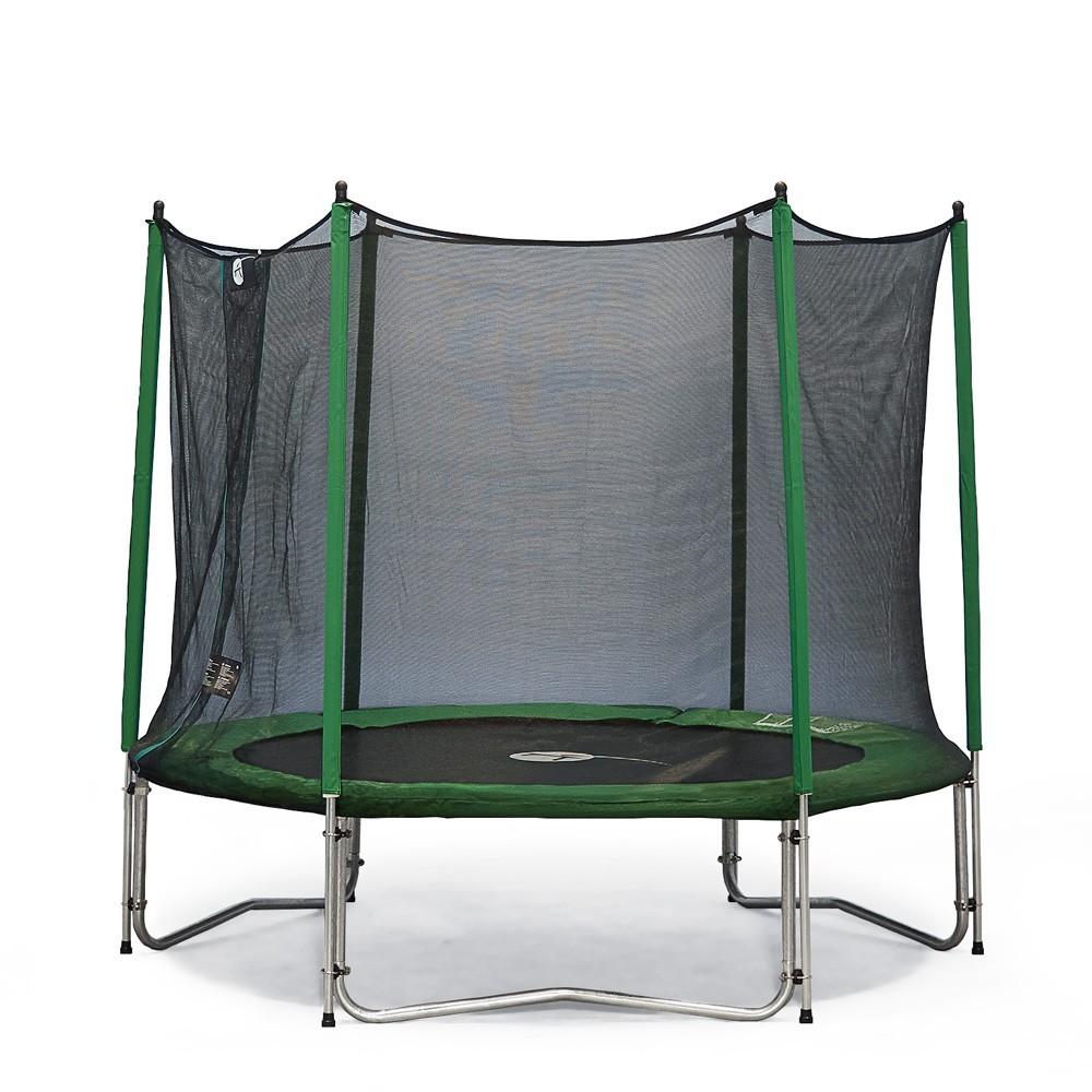 trampoline rond access 180 avec filet de protection. Black Bedroom Furniture Sets. Home Design Ideas