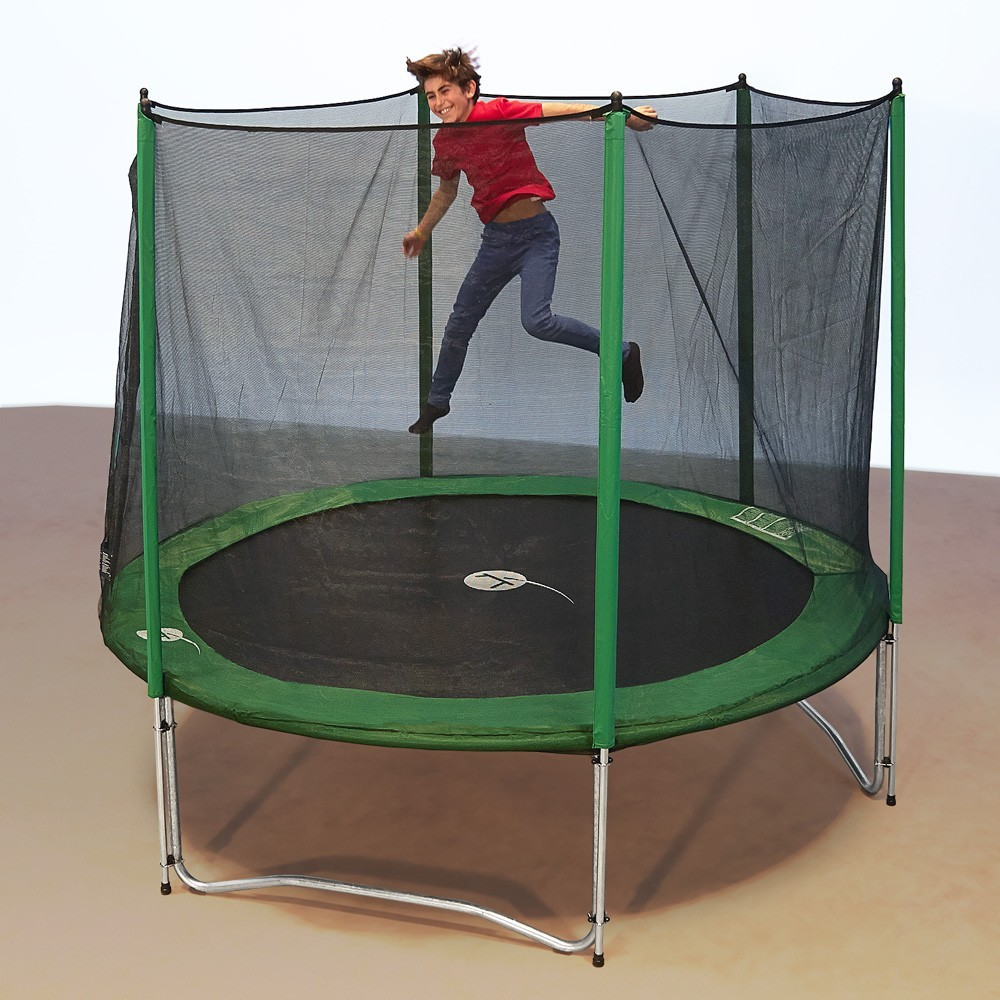 trampoline rond access 300 avec filet de protection. Black Bedroom Furniture Sets. Home Design Ideas