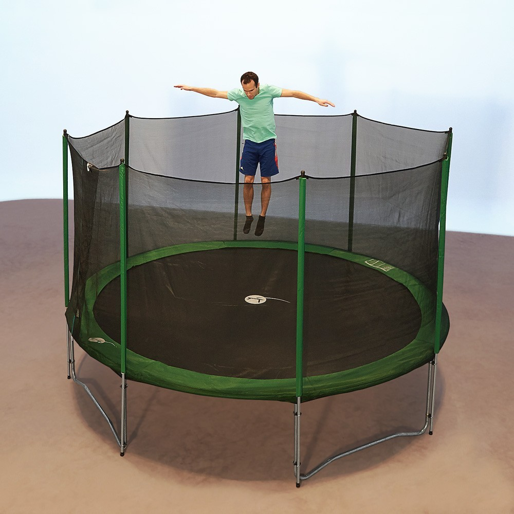 trampoline rond access 360 avec filet de protection. Black Bedroom Furniture Sets. Home Design Ideas