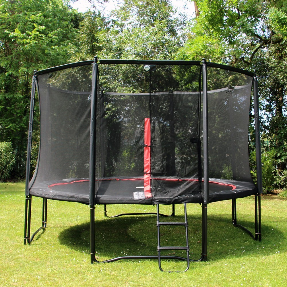 12ft Booster Trampoline With Net Ladder, Anchor Kit And