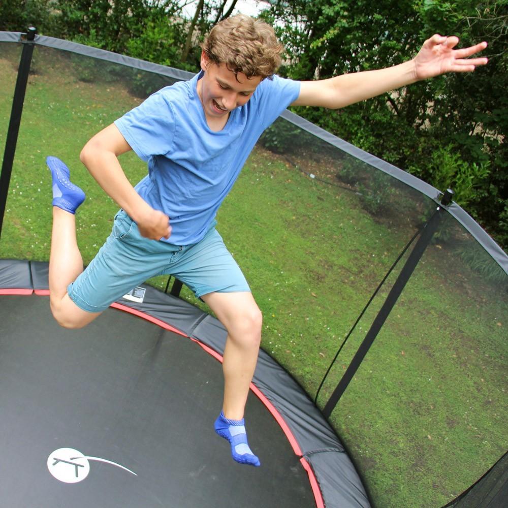 12ft booster trampoline with net ladder anchor kit and. Black Bedroom Furniture Sets. Home Design Ideas