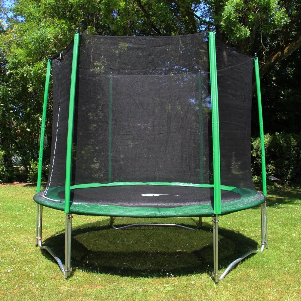 trampoline rond access 300 avec filet de protection. Black Bedroom Furniture Sets. Home Design Ideas
