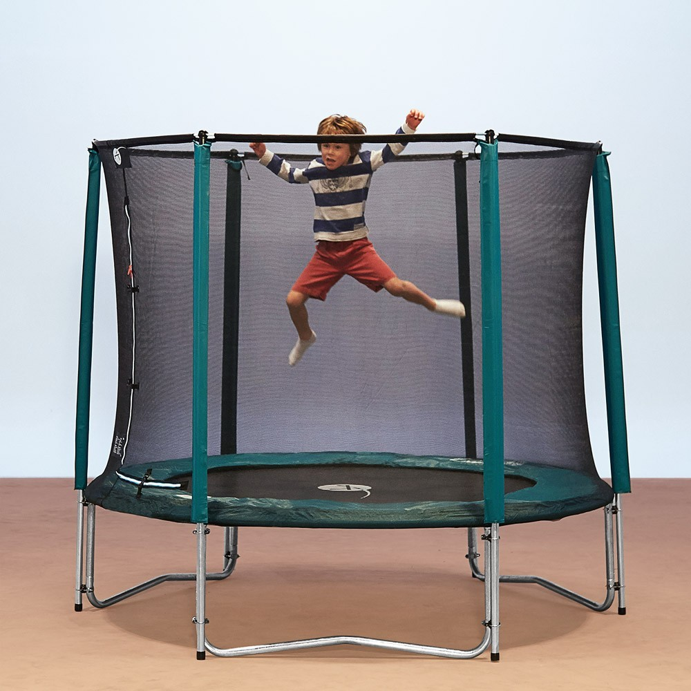 Trampoline jump 39 up 250 avec filet de protection - Protection trampoline ...