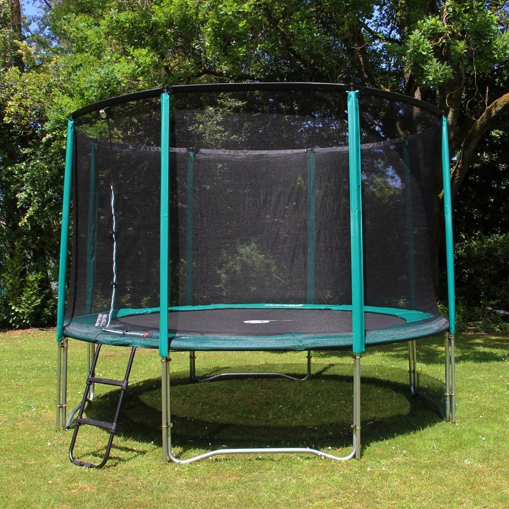 basic pack 12ft jump 39 up 360 trampoline net ladder anchor kit. Black Bedroom Furniture Sets. Home Design Ideas