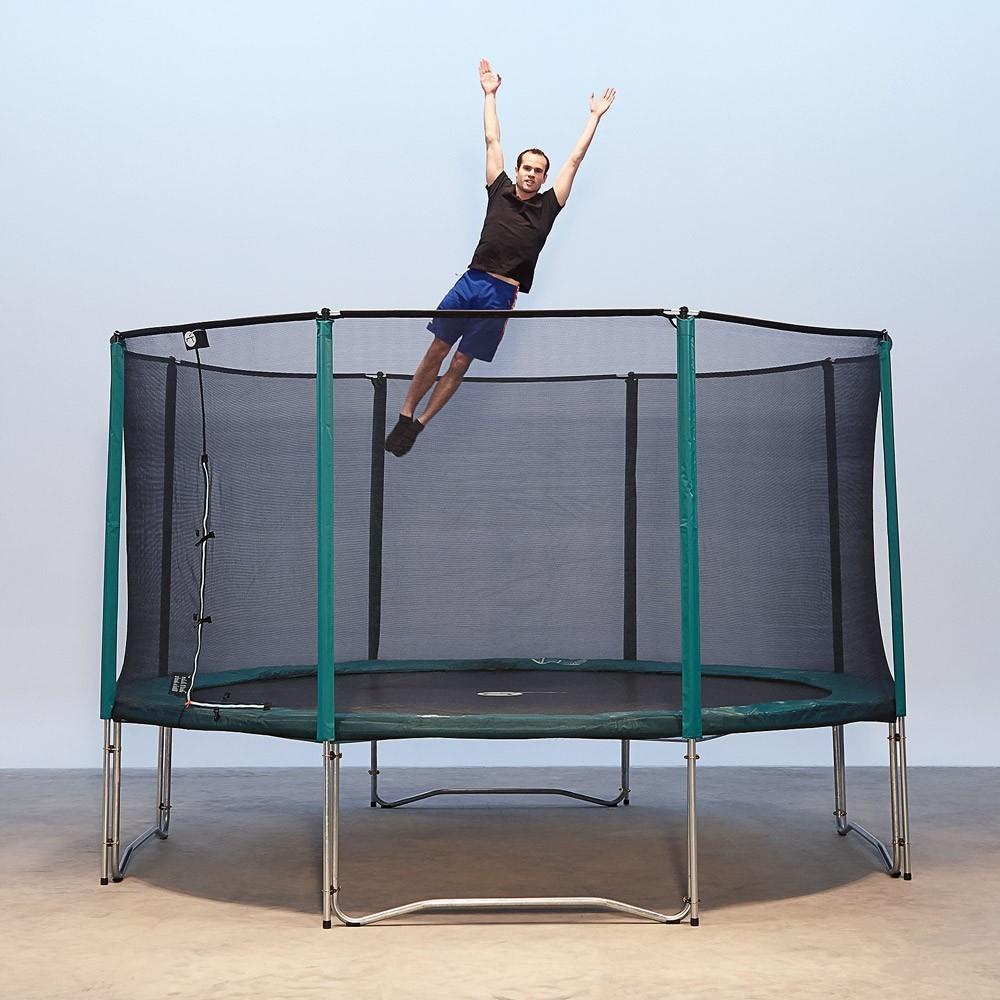 trampoline de jardin jump up 460 avec filet de protection. Black Bedroom Furniture Sets. Home Design Ideas
