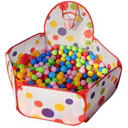 Piscine à balles enfant + 200 balles multicolores