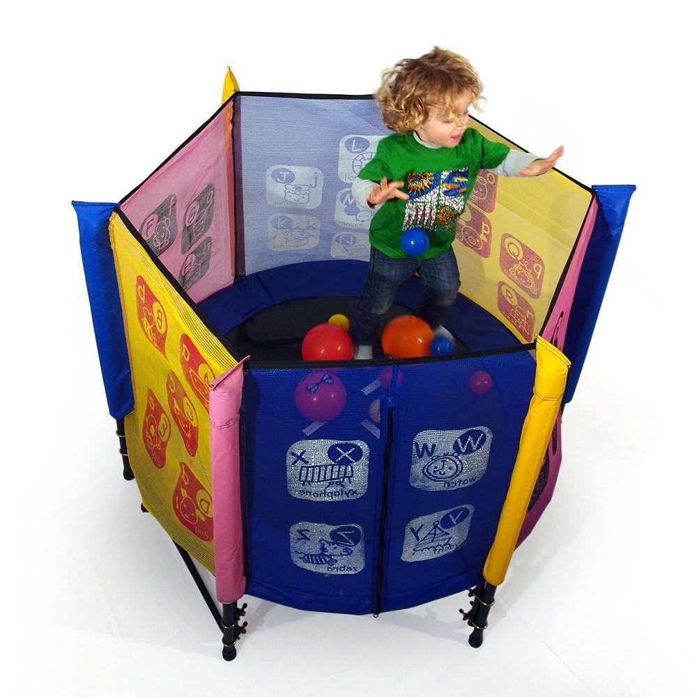 trampoline b b avec filet multicolore. Black Bedroom Furniture Sets. Home Design Ideas