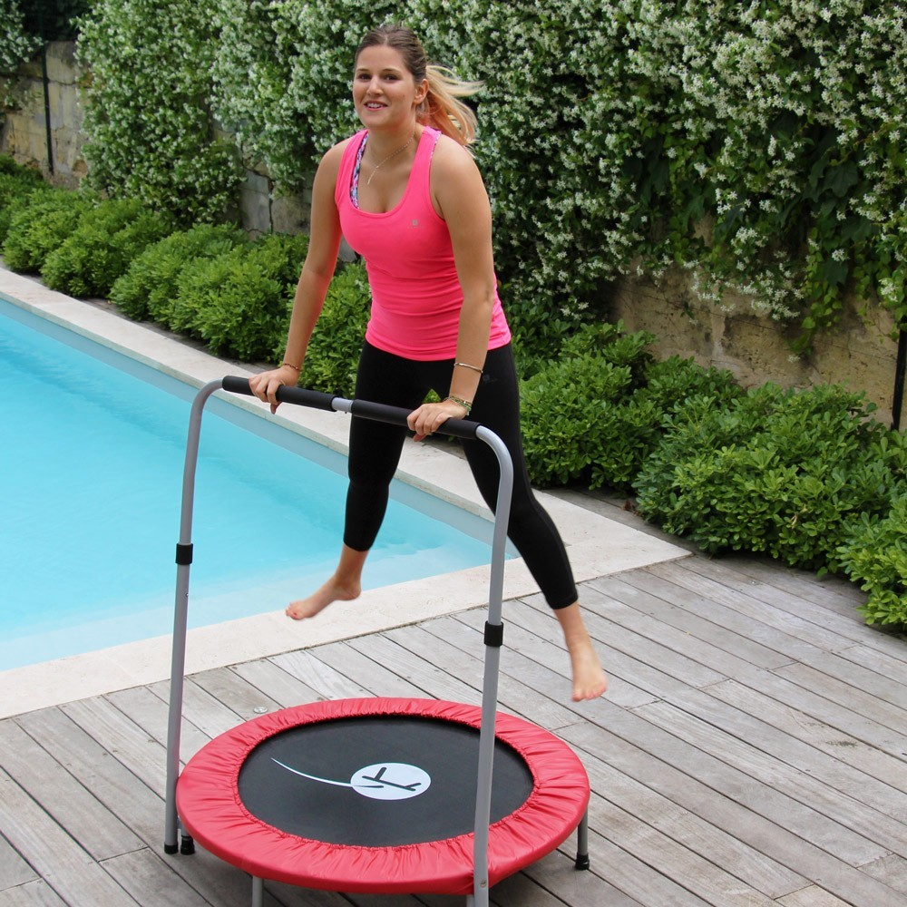 minimax fitness trampoline with handrail. Black Bedroom Furniture Sets. Home Design Ideas