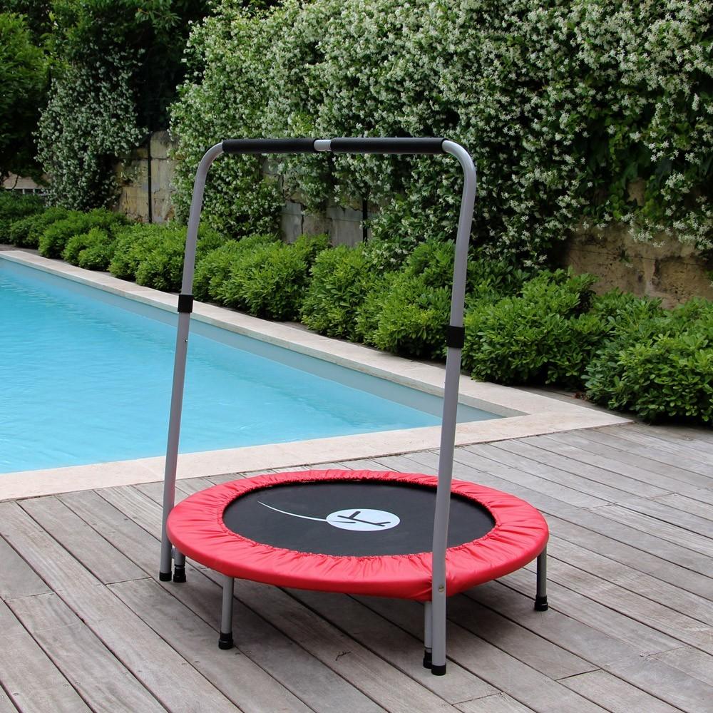 trampoline minimax avec barre de maintien. Black Bedroom Furniture Sets. Home Design Ideas