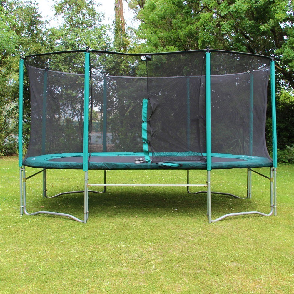 16ft ovalie 490 trampoline trampoline with enclosure and. Black Bedroom Furniture Sets. Home Design Ideas