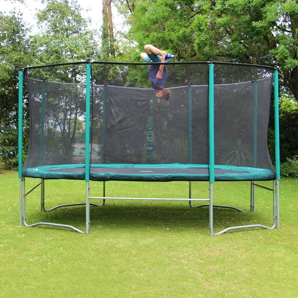 trampoline ovalie 490 avec filet et chelle. Black Bedroom Furniture Sets. Home Design Ideas