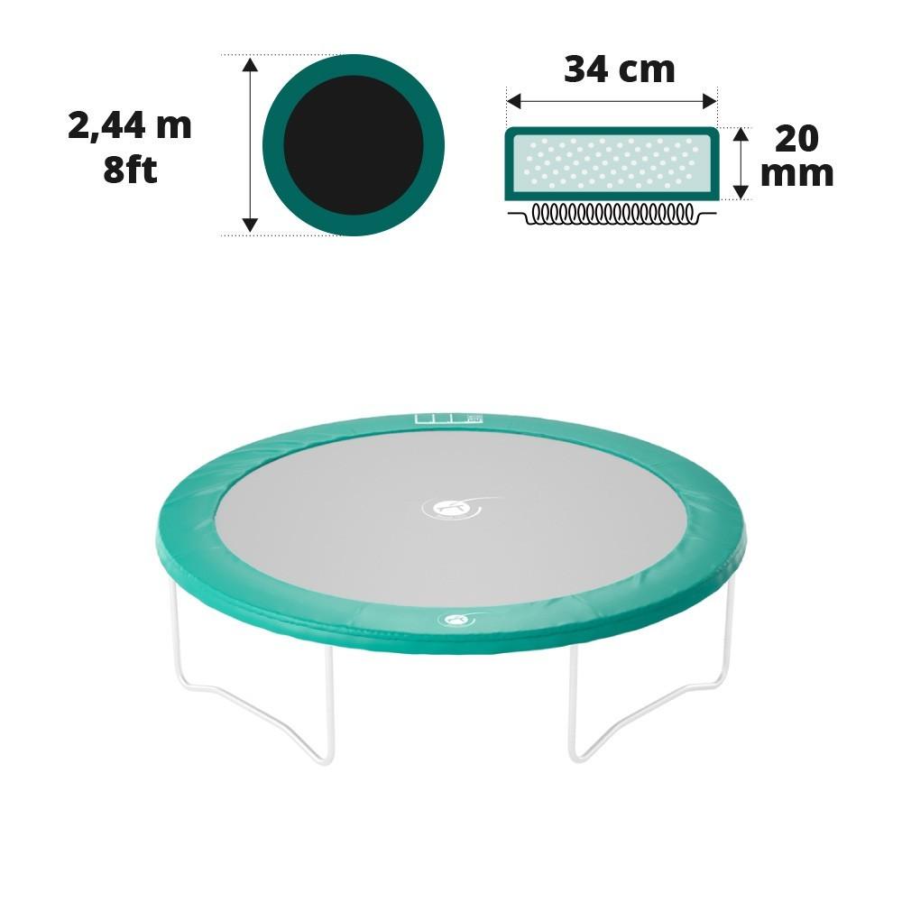 coussin de protection rond pour trampoline de jardin 2 50 m. Black Bedroom Furniture Sets. Home Design Ideas