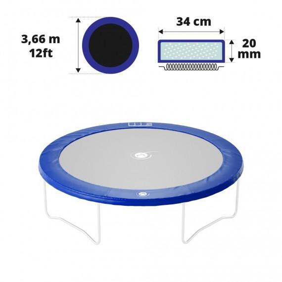 Coussin de protection bleu 360 20 mm / 34 cm