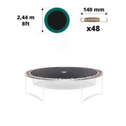 Toile de saut pour trampoline Ø 244 à 48 ressorts 140 mm