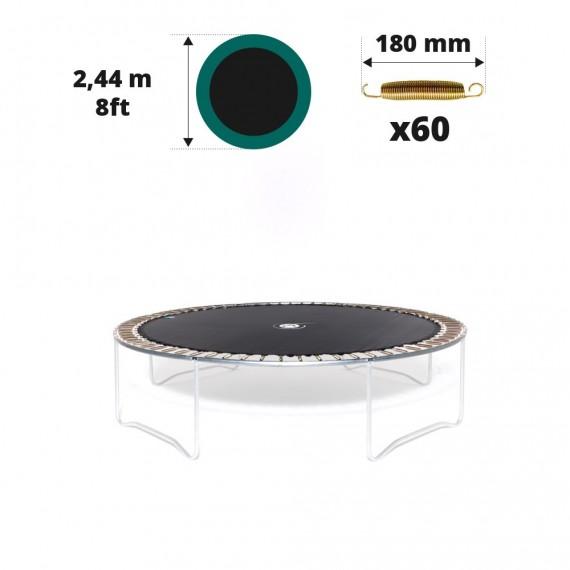 Toile de saut pour trampoline Ø 244 à 60 ressorts 180 mm