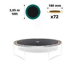 Toile de saut pour trampoline Ø 305 à 72 ressorts 180 mm