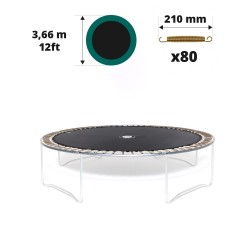 Toile de saut pour trampoline 360 à 80 ressorts 210mm