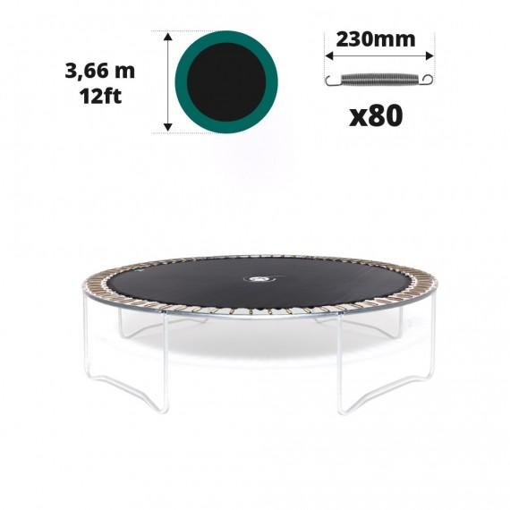 Toile de saut pour trampoline Ø 366 à 80 ressorts 230 mm argentés