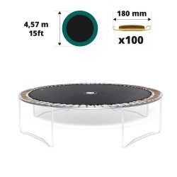 15ft trampoline jumping mat for 100 springs of 180 mm