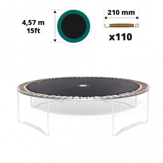15ft trampoline jumping mat for 110 springs of 210 mm