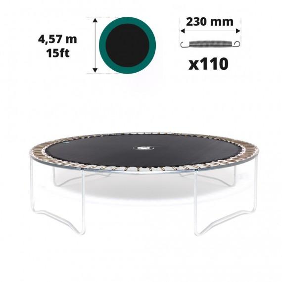 Toile de saut pour trampoline Ø 457 à 110 ressorts 230 mm argentés
